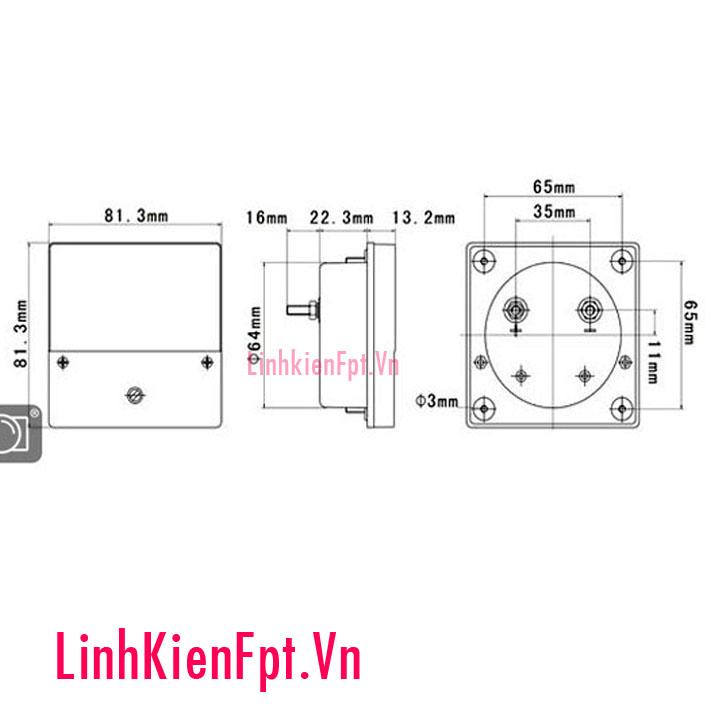 Đồng hồ đo ampe-10A BP-80