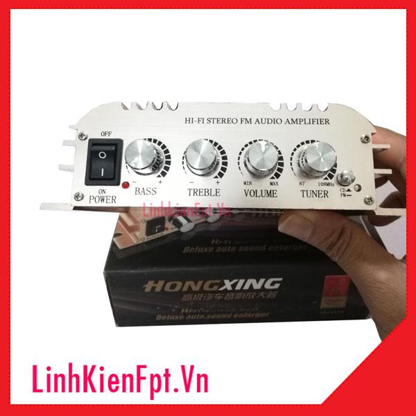 Mạch Âm Ly 12V Công Suất Lớn HX268 2x500W FM/USB