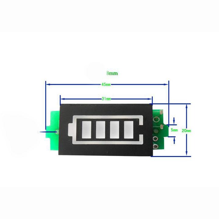 Đồng hồ hiển thị dung lượng pin , acquy 3.7V