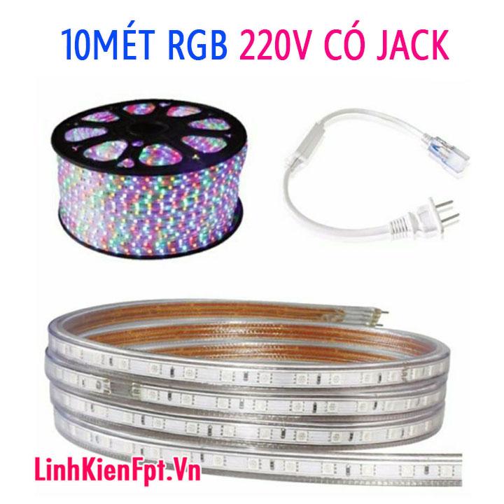 LED TRANG TRÍ TẾT RGB KÈM NGUỒN COMBO 10MÉT