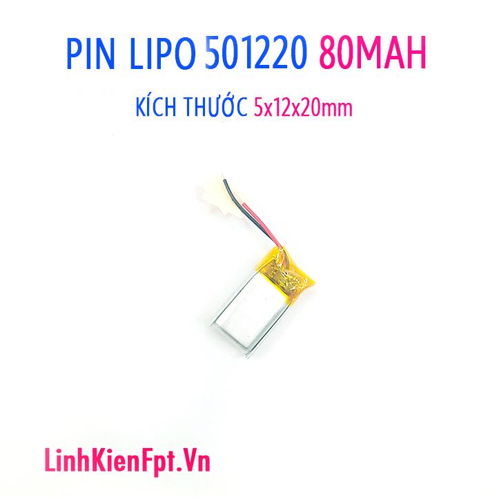 Pin Lipo  501120 80MAH Pin tai nghe