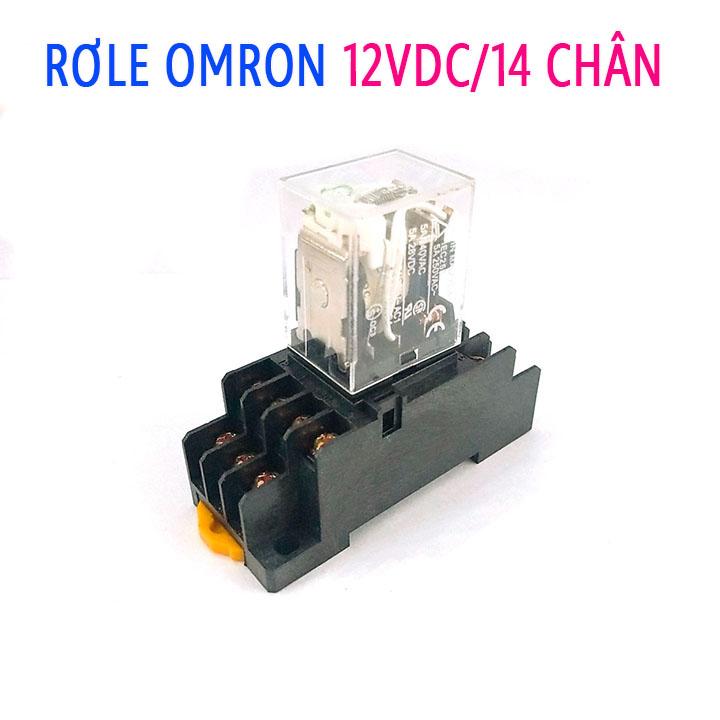 Rơ Le Omron 12V-5A 14 Chân ( Kèm Đế )