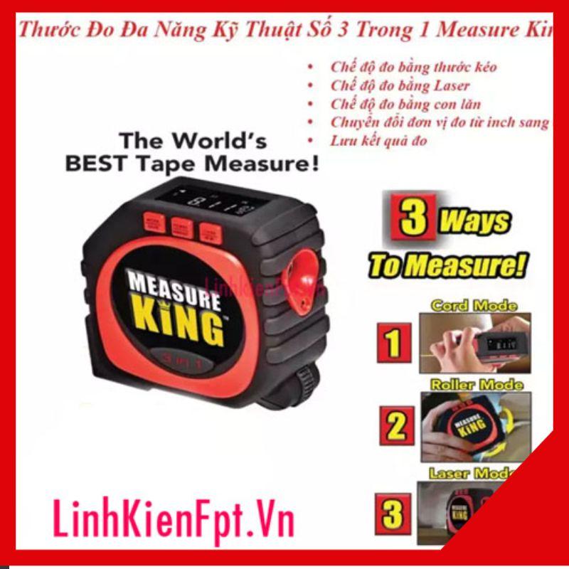 Thước đo đa năng kĩ thuật số Thước đo khoảng cách bằng tia laser MEASURE KING 3 trong 1