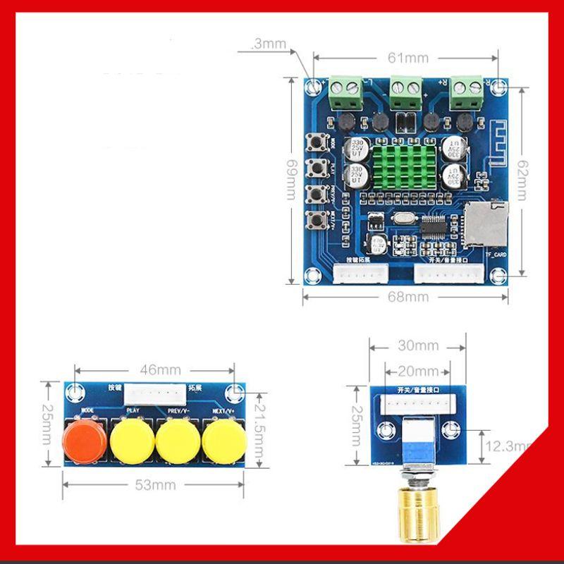 Mạch khuếch đại âm thanh Bluetooth TPA3116 2X30W