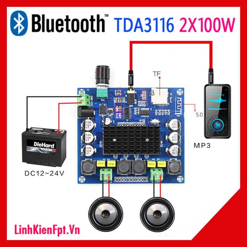 Mạch khuếch đại âm thanh TPA3116  Bluetooth 2x100W