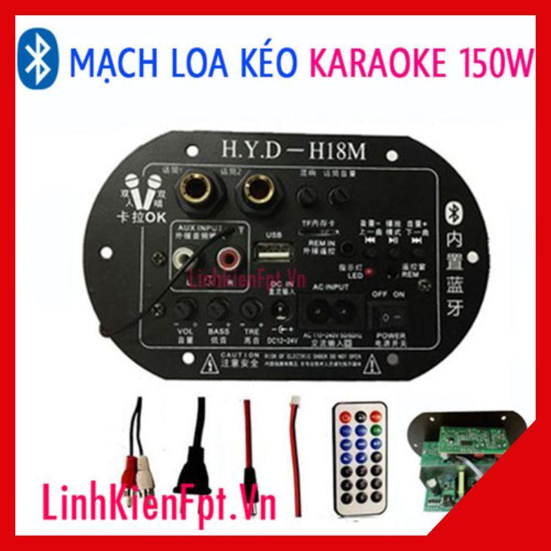 Mạch Loa Kéo Karaoke Bluetooth 150W Điều Khiển Từ Xa