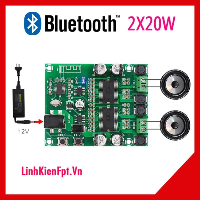 Mạch Khuếch Đại Âm Thanh  Bluetooth  2x20W