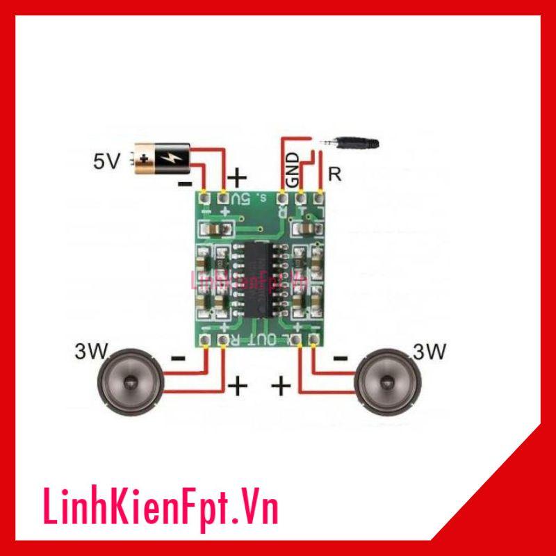 Module Khuếch Đại 5V Audio 2x3W