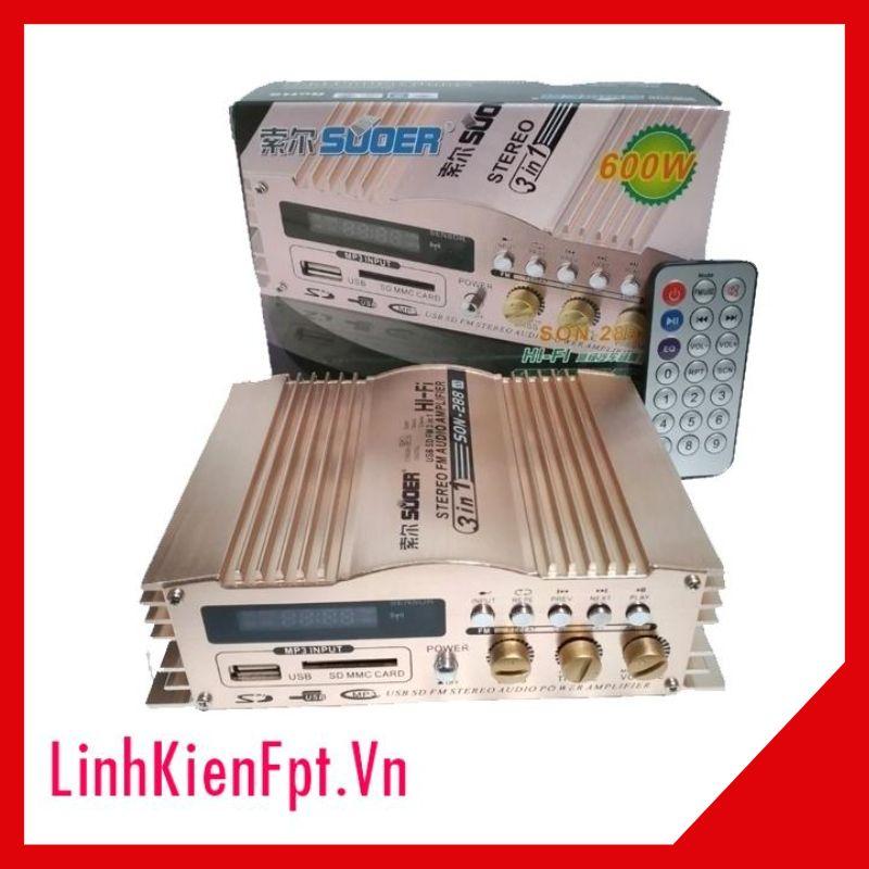 Amply xe hơi SON-288 600W 12V