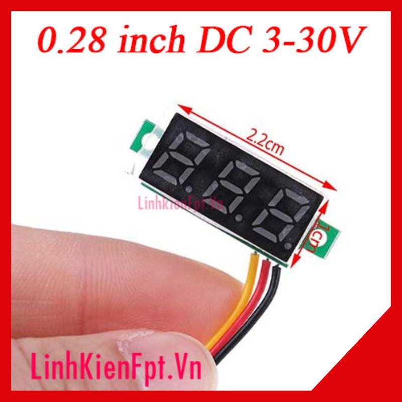 Vôn kế điện tử DC 0.28 inh 3-30V