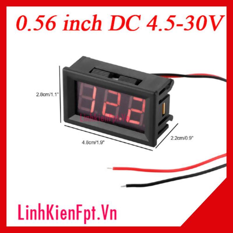 Vôn kế điện tử DC 0.56 inh 4.5-30V