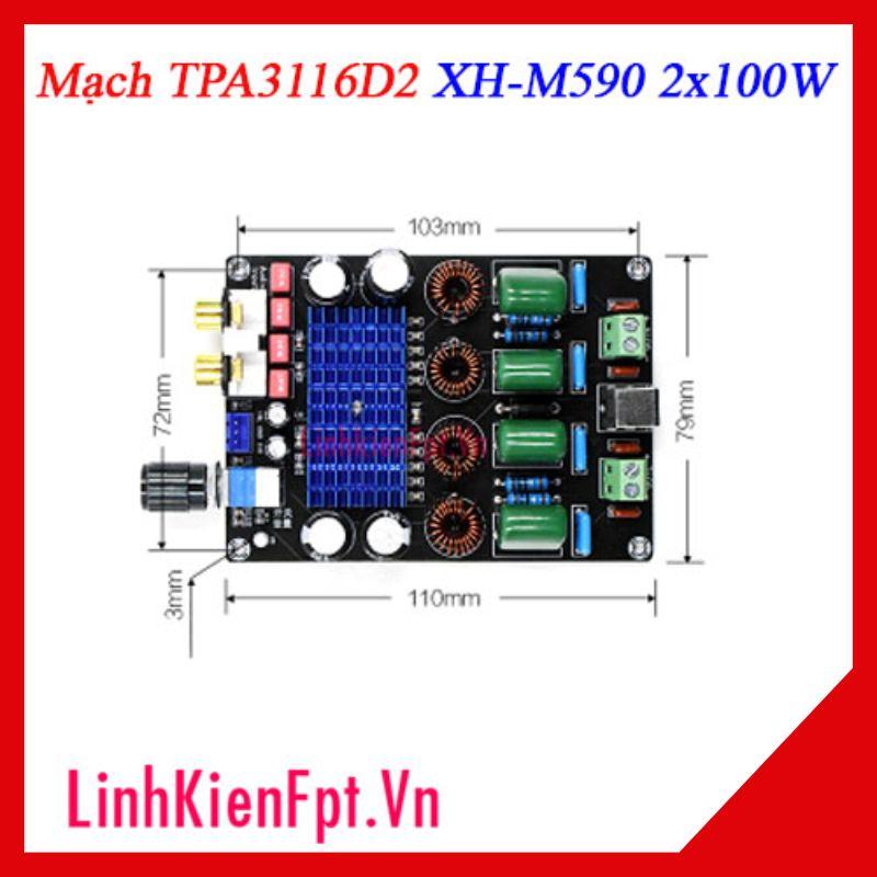Mạch Khuếch Đại Âm Thanh XH-M590 2x100W