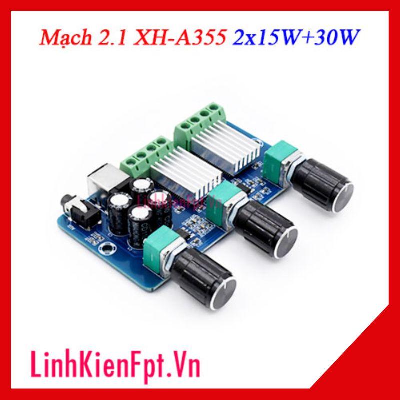 Mạch Khuếch Đại Âm Thanh 2.1 XH-A355 2x15W+30W
