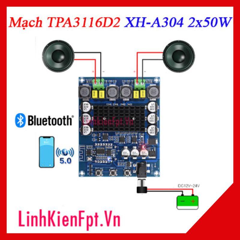 Mạch khuếch đại TPA3116D2 2x50W XH-304 Bluetooth 5.0