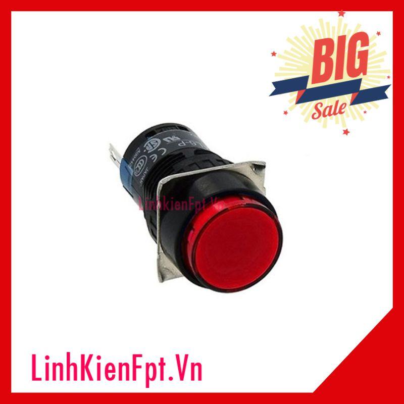 Nút Nhấn Nhả Có Đèn Al6-M 24VDC 20mm Màu Đỏ