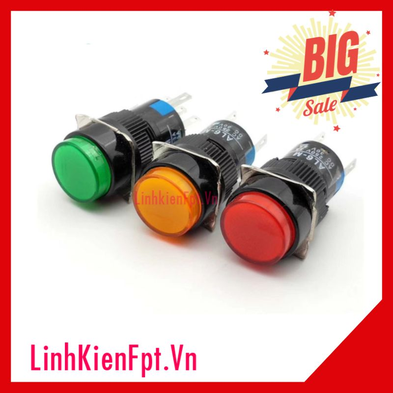 Nút Nhấn Nhả Có Đèn Al6-M 24VDC 20mm Màu Vàng