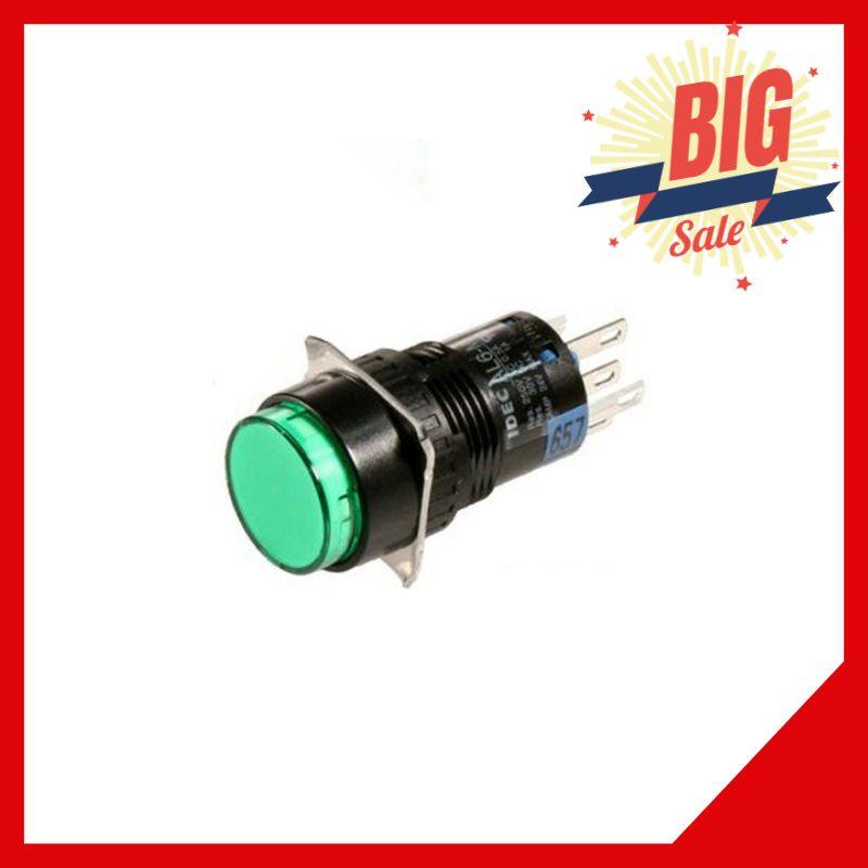 Nút Nhấn Nhả Có Đèn Al6-M 24VDC 20mm Màu Xanh