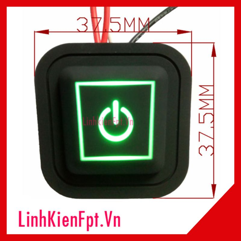 Nút Nhấn Silicone 3.7v - 24V 5A Có Led