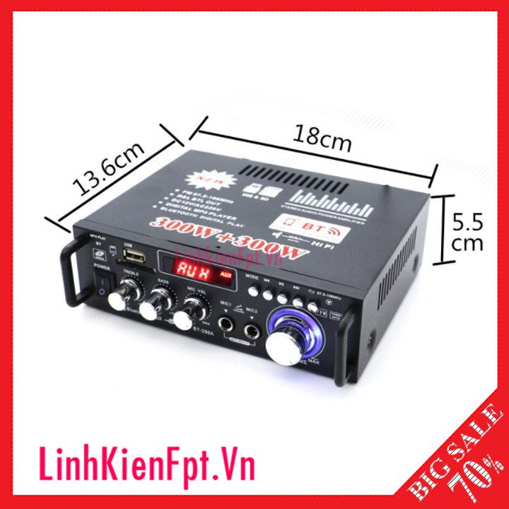 Âm Ly Karaoke Mini BT298A, Âm ly khuếch đại âm thanh