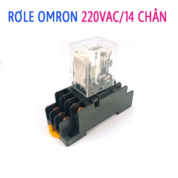 Rơ Le Omron 220V-5A 14 Chân ( kèm Đế )