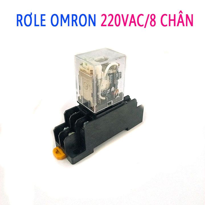 Rơ Le Omron 220V-10A 8 Chân ( Kèm Đế )