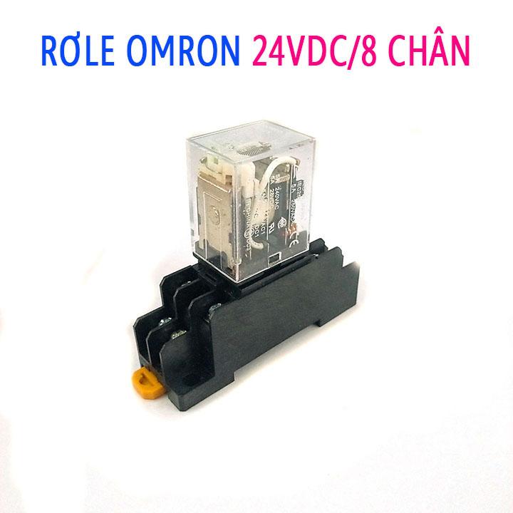 Rơ Le Omron 24V-5A 8 Chân  ( Kèm Đế )