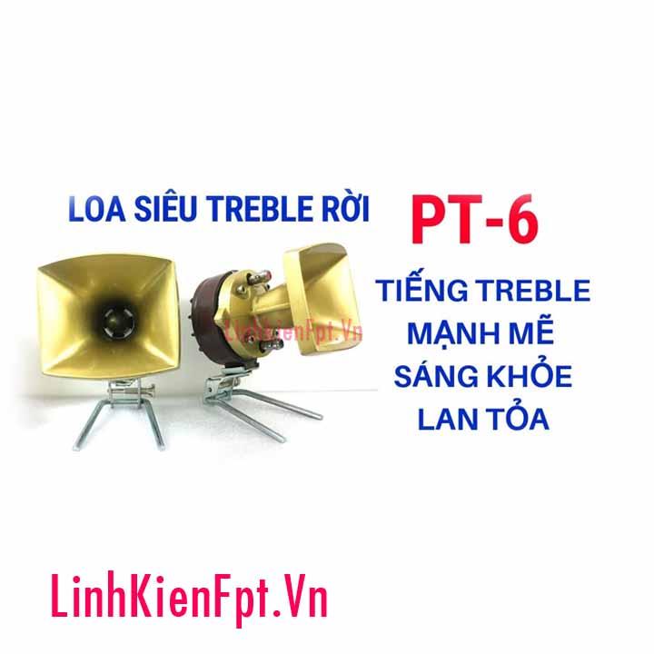 Bộ 2 loa treble kèn BX PT-6 (Tặng kèm 2 tụ)