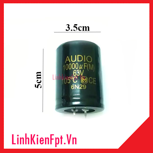Tụ Hóa 63V 10000uF AUDIO