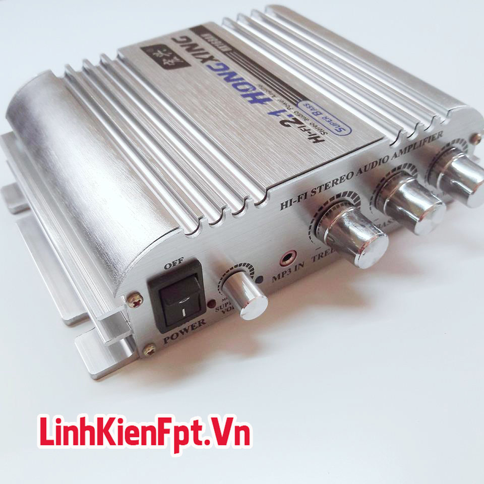 Âm Ly Mini 300W XH-168 SUPER BASS Độ Loa Xe Hơi