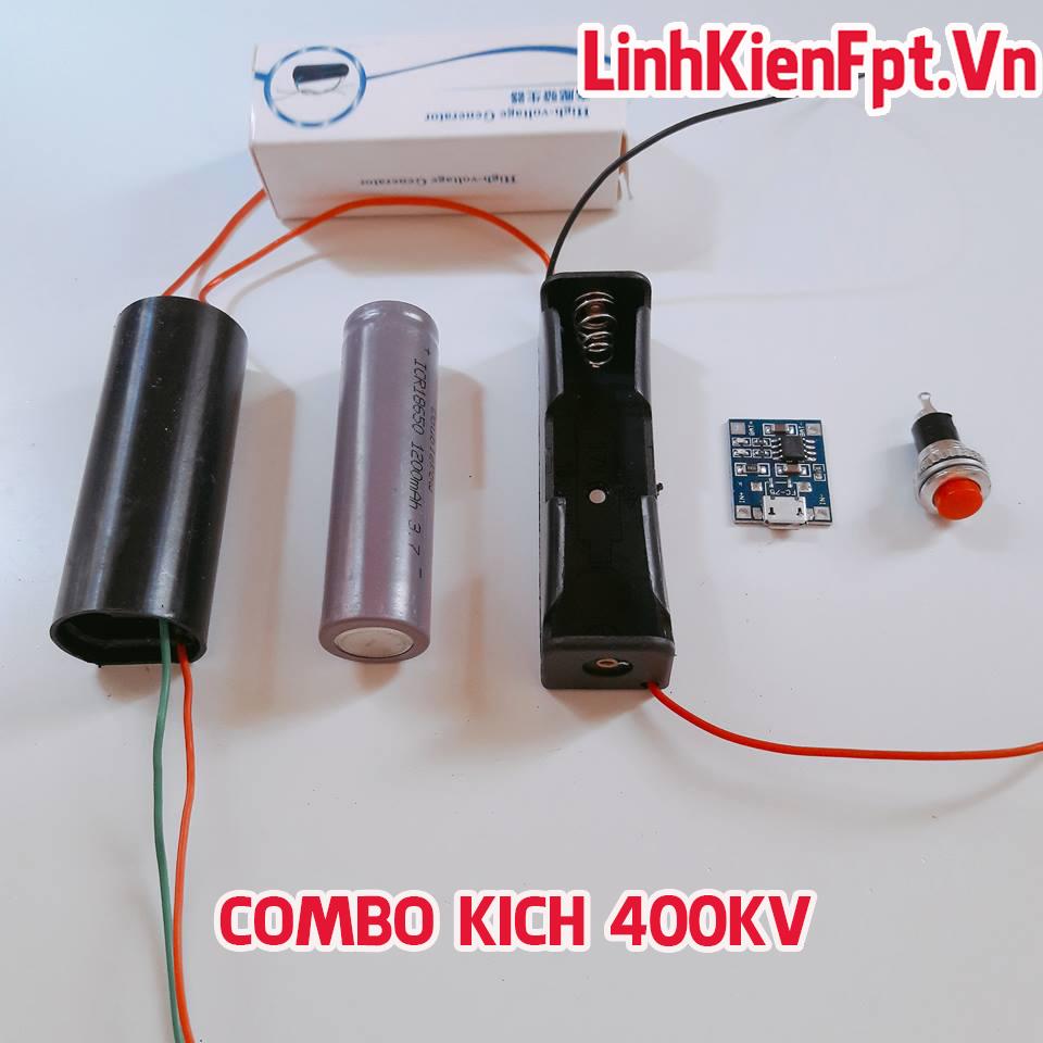 COMBO tăng áp 400KV - Đầy Đủ Phụ Kiện