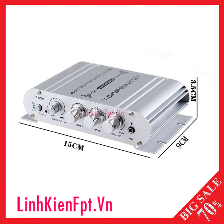 Âm Ly mini BP-838 12v, bộ khuếch đại âm thanh