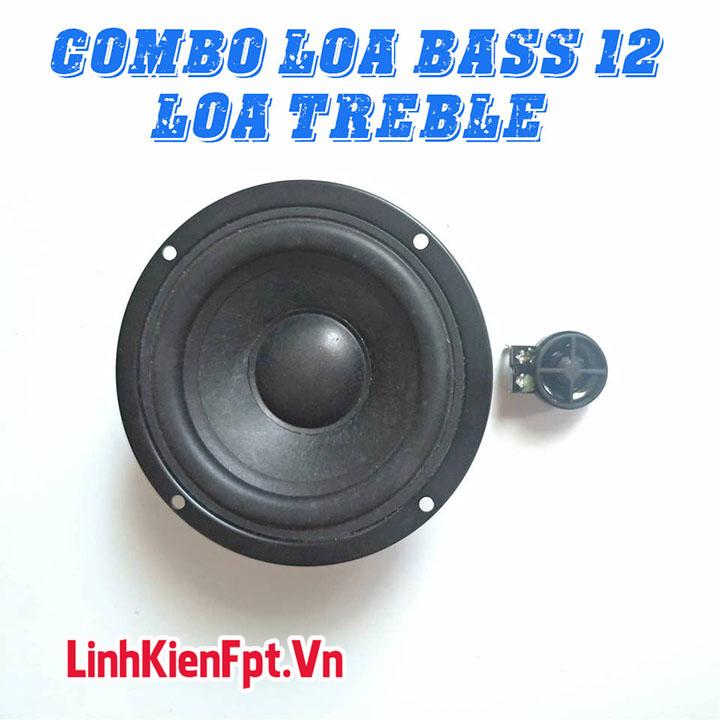 Loa Bass 12 Công suất 50W + Loa Treble Mini 10W