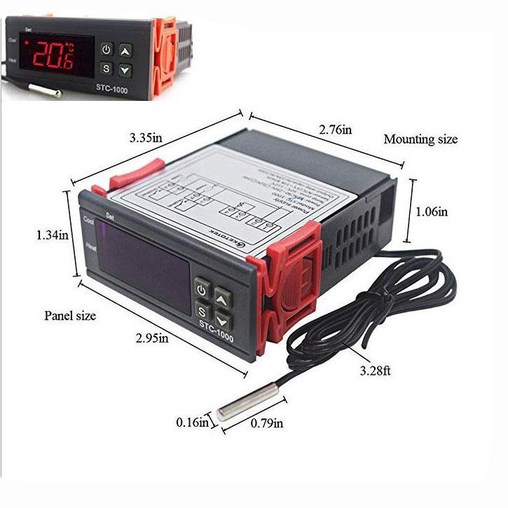 Bộ khống chế nhiệt độ hồ cá STC-1000 220VAC