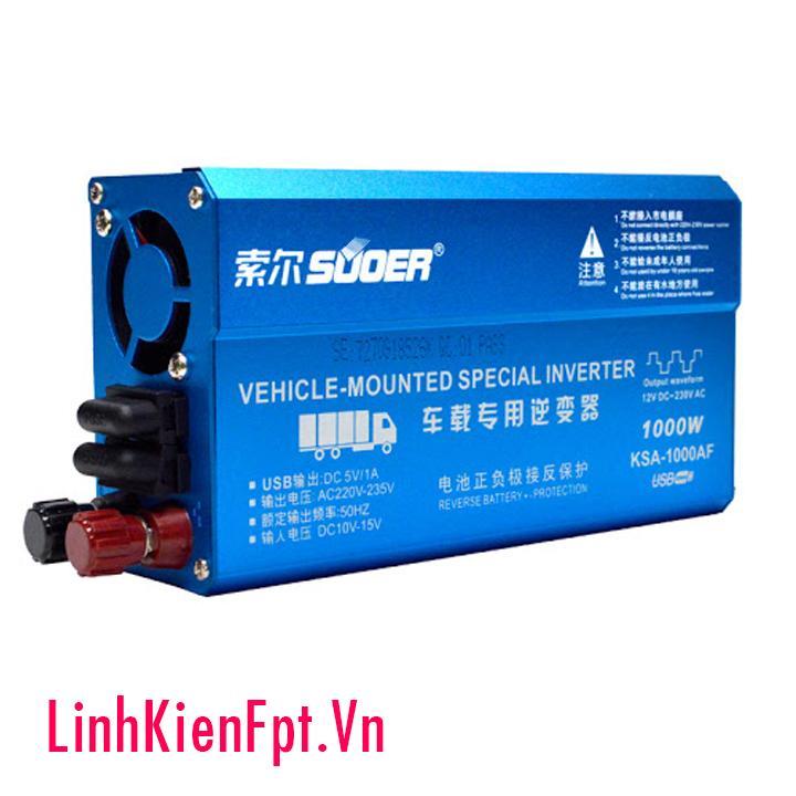 Bộ đổi điện Inverter 12V~220VAC 1000W KSA-1000AF