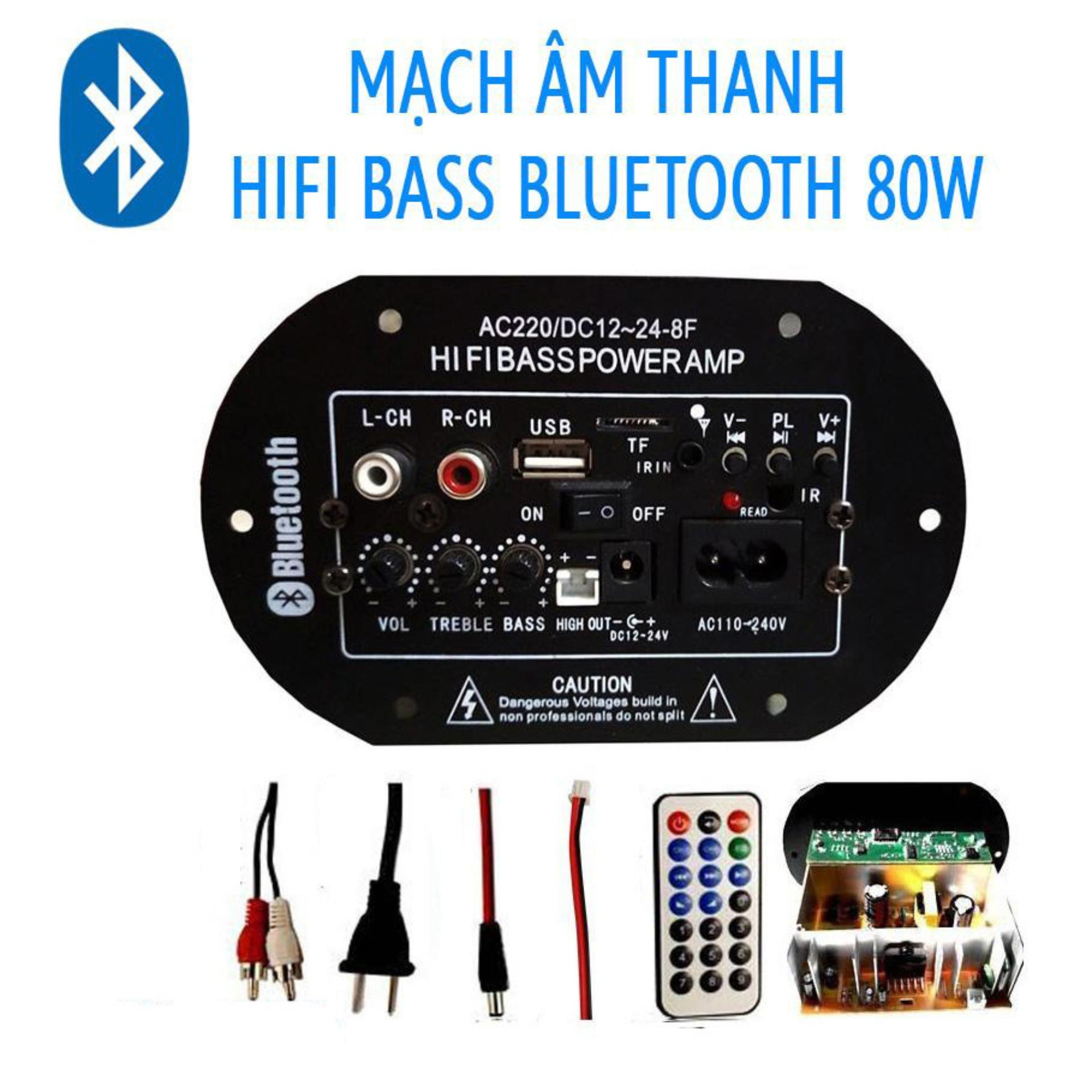 Âm Ly Bluetooth PA2009 HiFi Bass , Mạch Loa Crow 80W