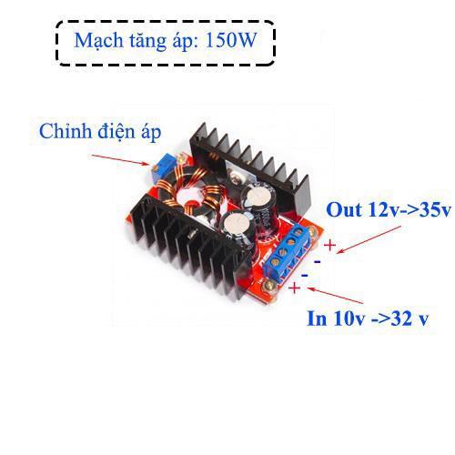 Mạch tăng áp 12V-35V 150W