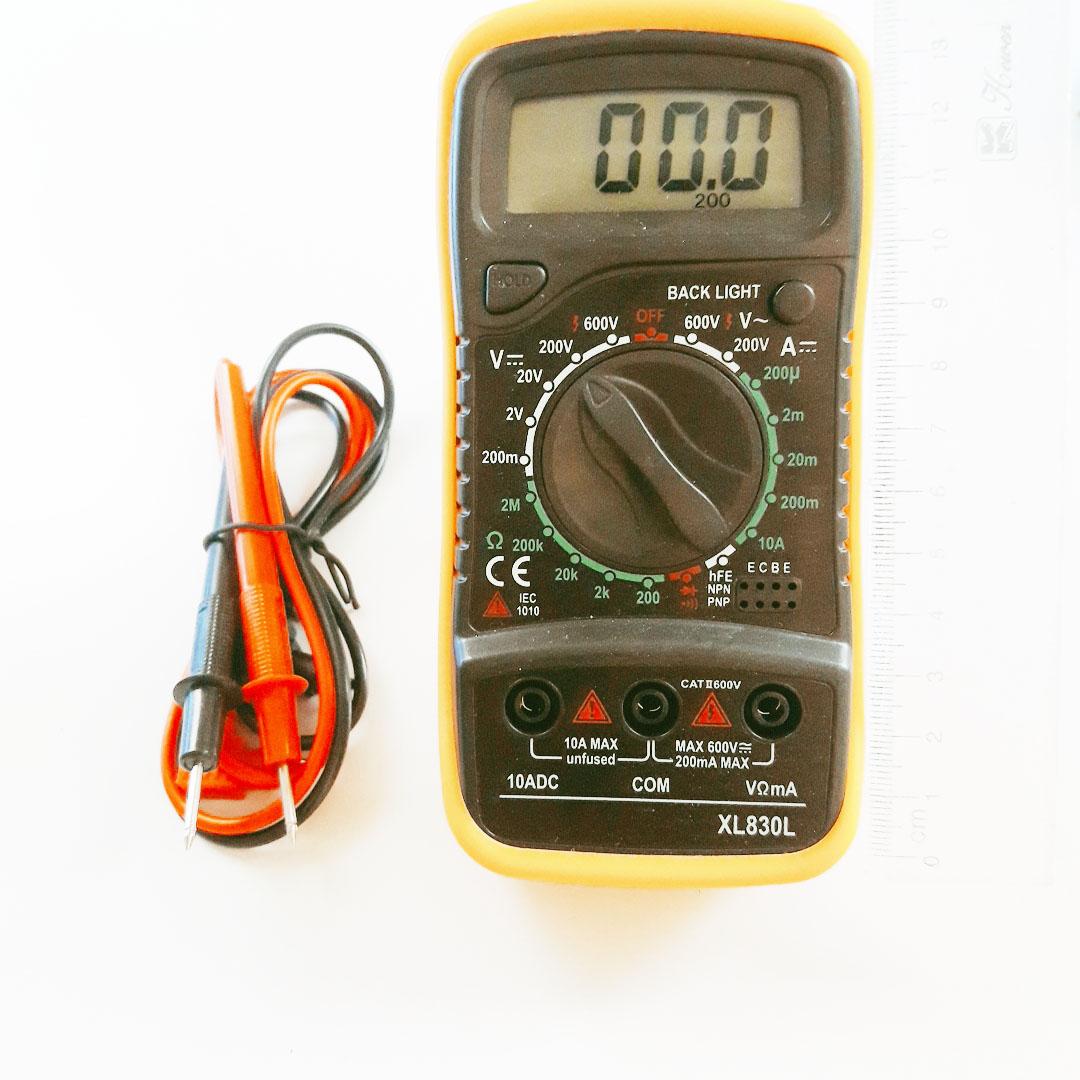 Đồng Hồ Đo Vạn Năng DT830L Có Led Trợ Sáng Màn Hình + Kèm Pin