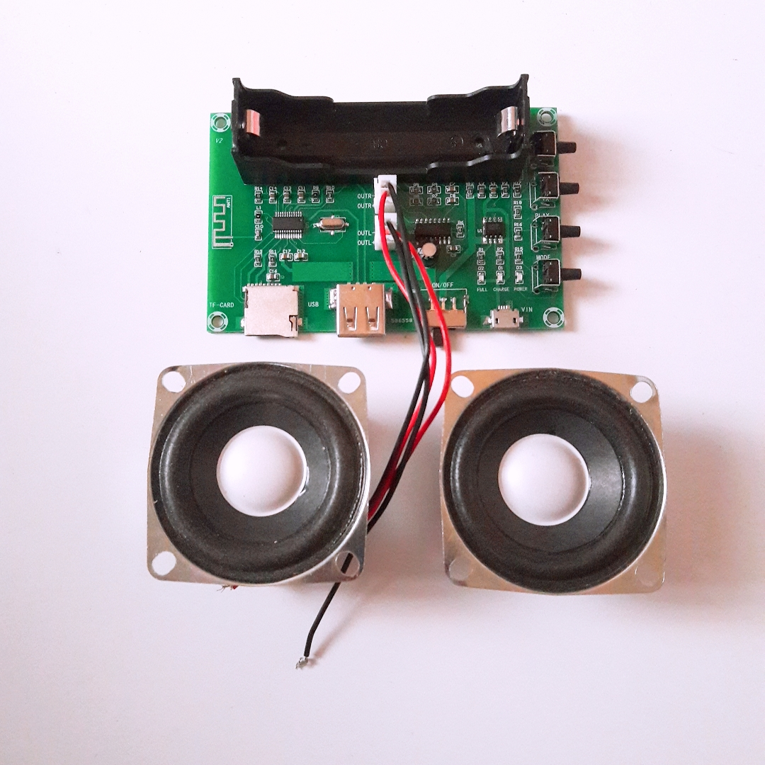 PAM 8403 Bluetooth Tích Hợp Pin + 2 Loa 10W - Chế loa 3 trong 1