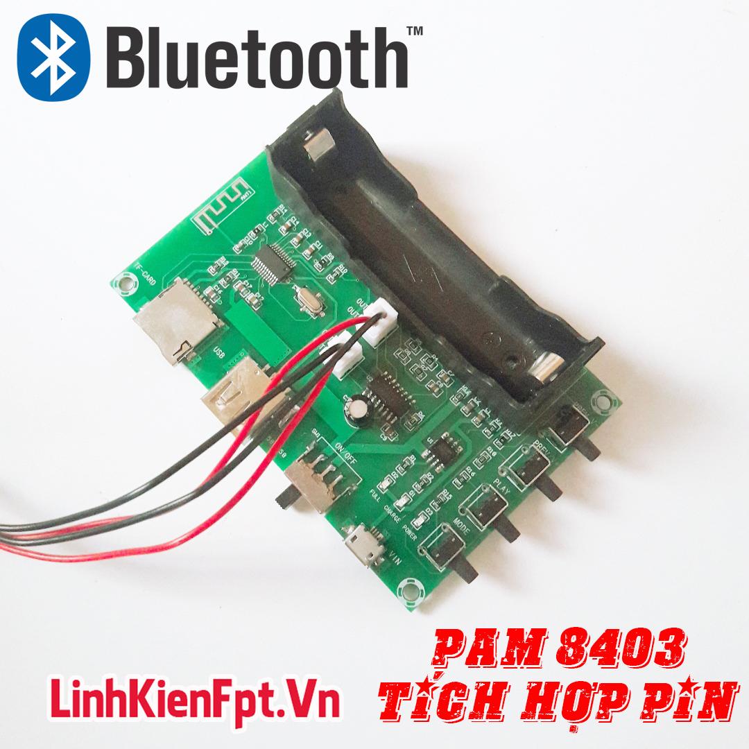 Mạch Âm Thanh PAM 8403 Bluetooth 2 Kênh 5W Tích Hợp Pin