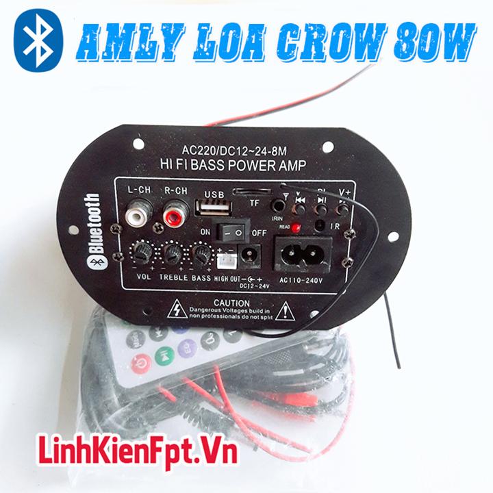 Âm Ly Bluetooth PA2009 HiFi Bass , Mạch Loa Crow 80W