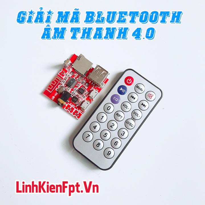 Bộ Thu Bluetooth , Mạch Giải Mã Âm Thanh Bluetooth 4.0 - Kèm Remote