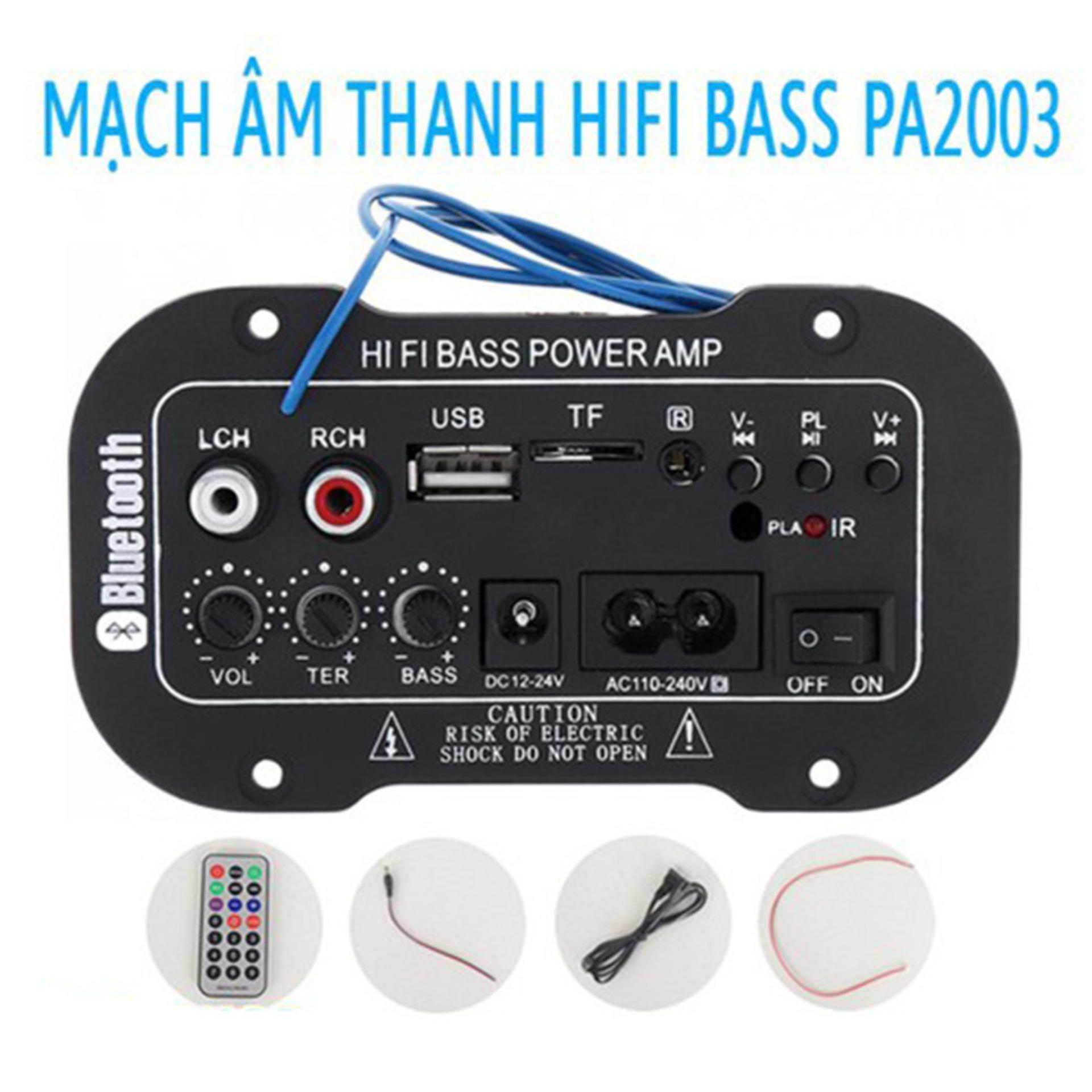 Âm Ly Bluetooth TDA PA2003A HiFi Bass  80W , Khuếch Đại Âm Thanh