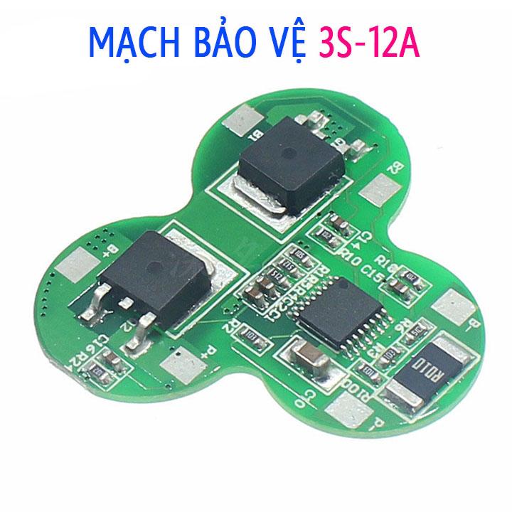Mạch bảo vệ pin 3S 12V 12A hình sao