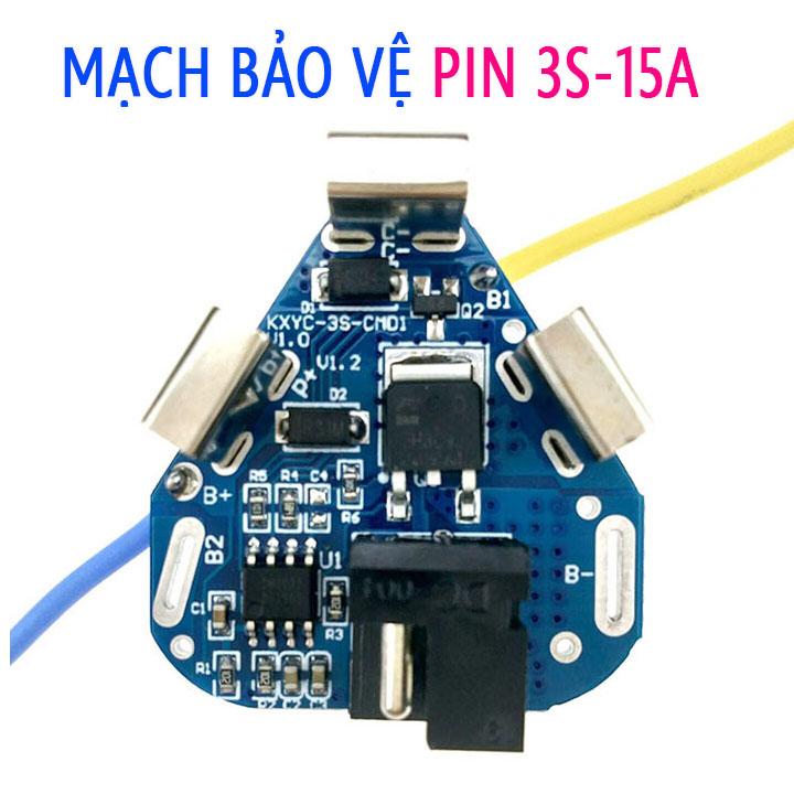 Mạch bảo vệ pin Makita 3S 15A 12.6V, Mạch 3S tam giác