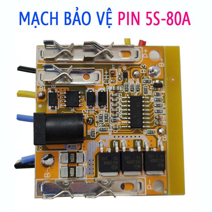 Mạch Makita 5S 18V-80A Sạc bảo vệ pin Li-ion