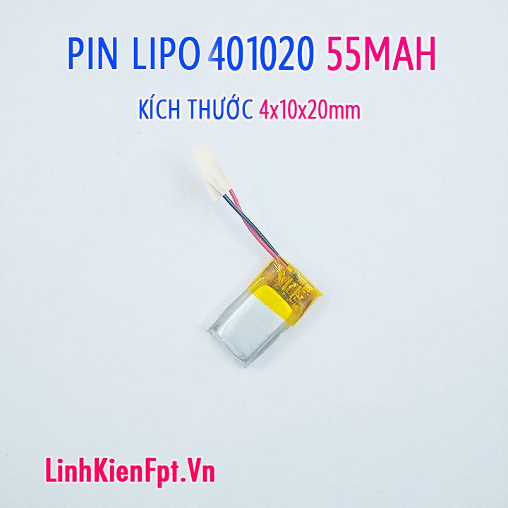 Pin Lipo  401020 55MAH Pin tai nghe