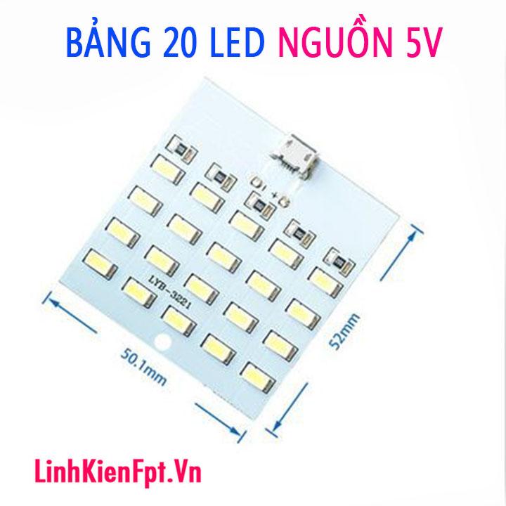 Bóng đèn 20 led sáng trắng 5V