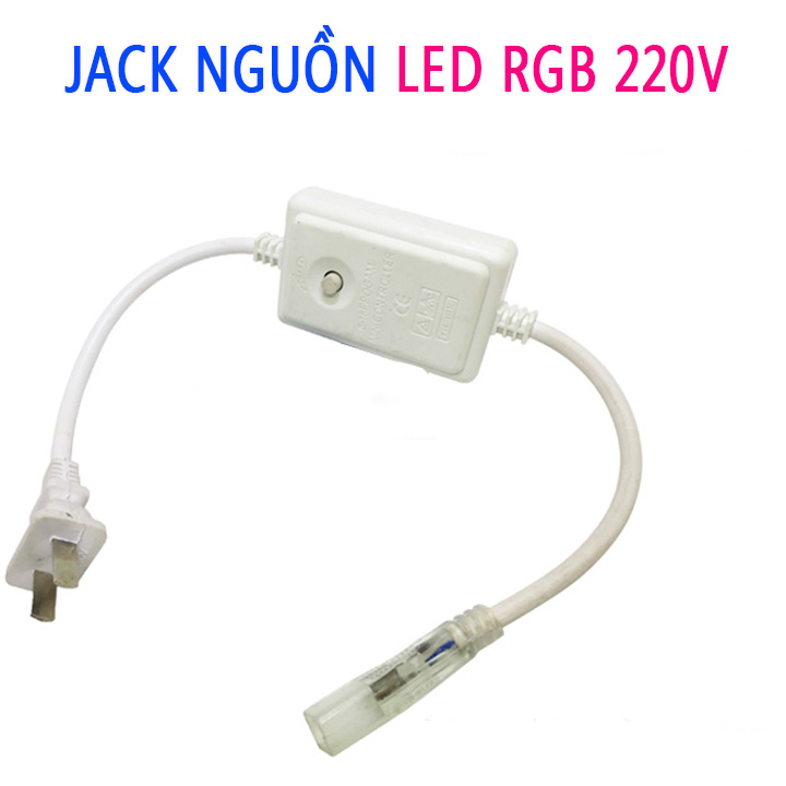 Jack nguồn Led RGB 220V