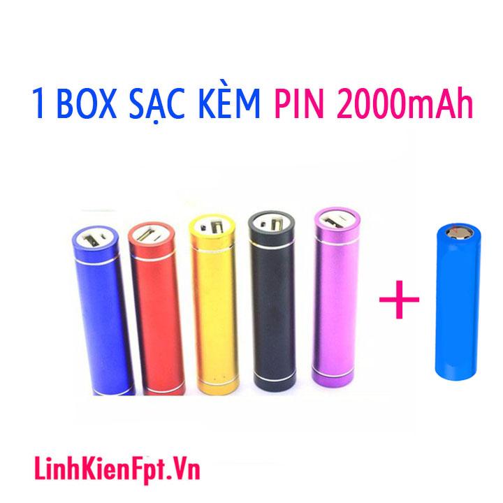 Box sạc pin dự phòng 1 Cell  Kèm Pin 2000mAh