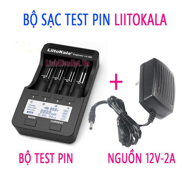 Bộ kiểm tra pin Liitokala dung lượng ,nội trở Kèm Nguồn 12V-2A